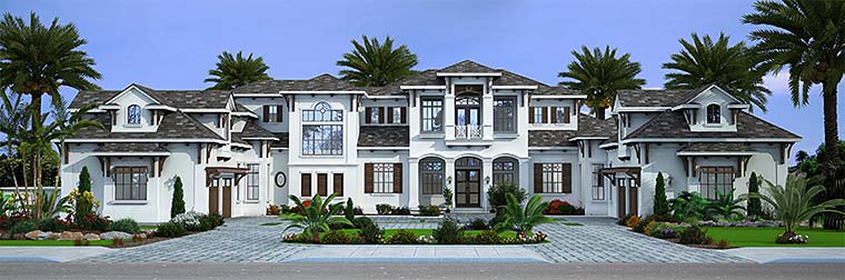Mediterranean , Florida , Coastal House Plan 52945 with 7 Beds, 8 Baths, 4 Car Garage Elevation