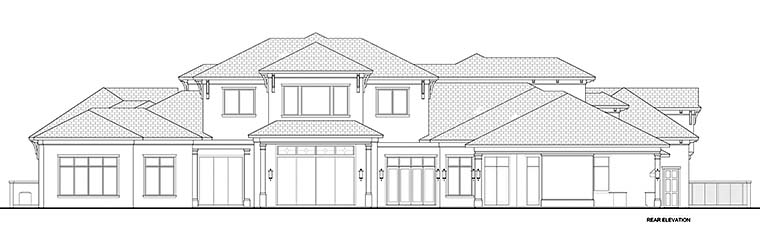 Mediterranean , Florida , Coastal House Plan 52945 with 7 Beds, 8 Baths, 4 Car Garage Rear Elevation