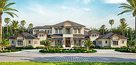 House Plan 52958 | Coastal Contemporary Style Plan with 9224 Sq Ft, 5 Bedrooms, 9 Bathrooms, 4 Car Garage Elevation