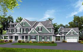 Country , Southern , Traditional House Plan 53019 with 5 Beds, 6 Baths, 3 Car Garage Elevation