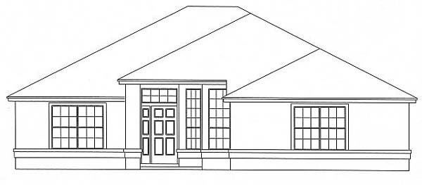 House Plan 53228 with 3 Beds, 2 Baths, 2 Car Garage Front Elevation