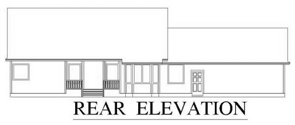 House Plan 53339 Rear Elevation
