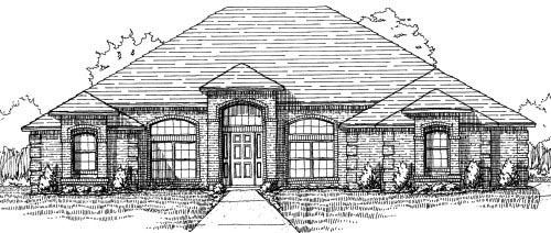 House Plan 53352 Elevation
