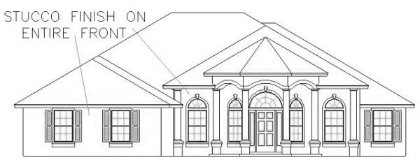 House Plan 53359 Elevation
