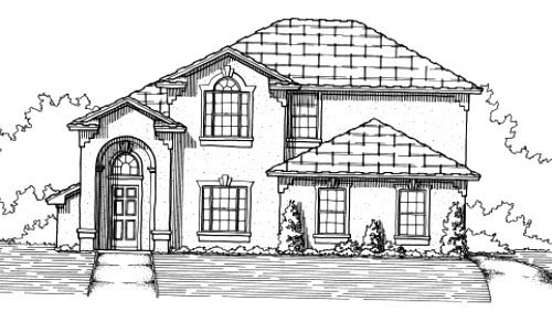 House Plan 53367 Elevation
