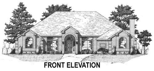 House Plan 53416 with 4 Beds, 3 Baths, 2 Car Garage Picture 1