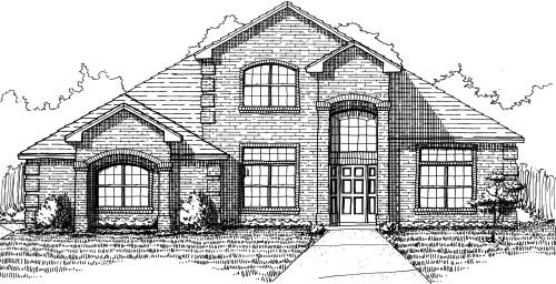 House Plan 53503 with 4 Beds, 4 Baths, 2 Car Garage Elevation
