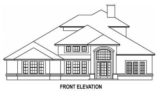 House Plan 53536 with 5 Beds, 4 Baths, 2 Car Garage Picture 1