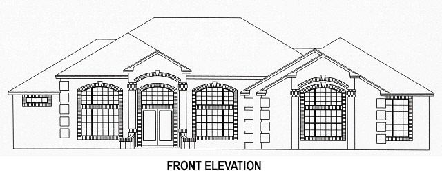 House Plan 53537 with 4 Beds, 3 Baths, 3 Car Garage Picture 1