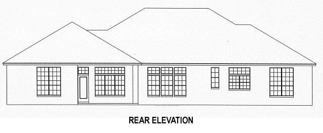 Rear Elevation of Plan 53537