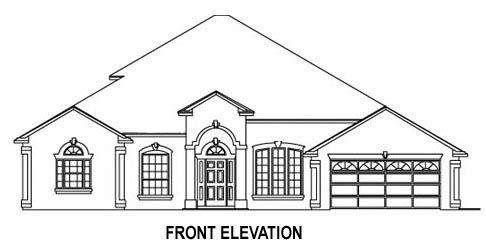 House Plan 53540 with 5 Beds, 4 Baths, 2 Car Garage Picture 1