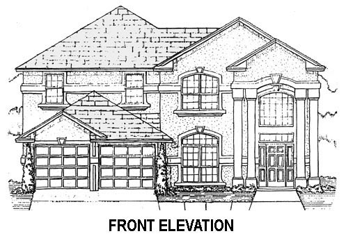 House Plan 53541 with 5 Beds, 3 Baths, 2 Car Garage Picture 1