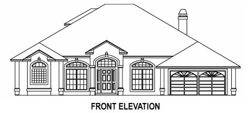 House Plan 53542 with 5 Beds, 4 Baths, 2 Car Garage Picture 1