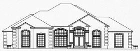 House Plan 53544 with 4 Beds, 3 Baths, 2 Car Garage Elevation