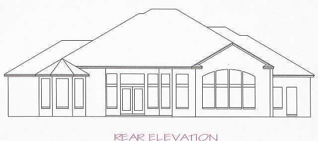 House Plan 53544 Rear Elevation