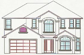 House Plan 53546 Elevation
