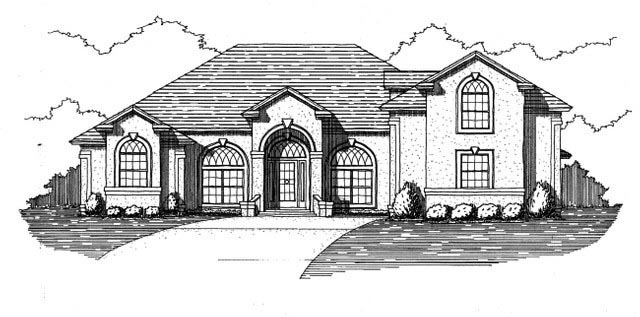 House Plan 53547 Elevation