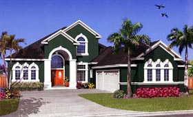House Plan 53548 Elevation