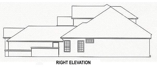 House Plan 53548 with 4 Beds, 3 Baths, 3 Car Garage Picture 2