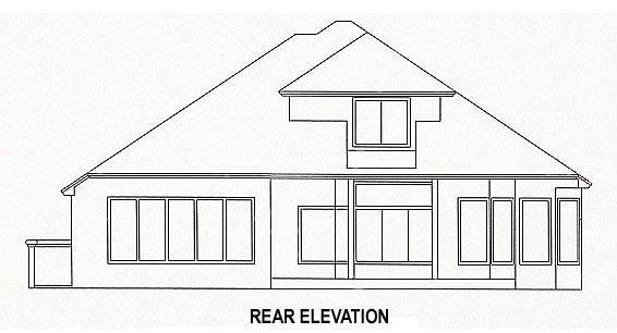 Rear Elevation of Plan 53548