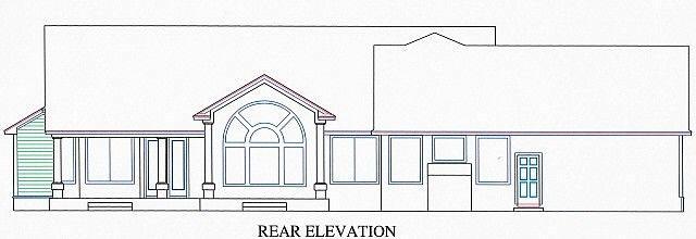 House Plan 53550 Rear Elevation
