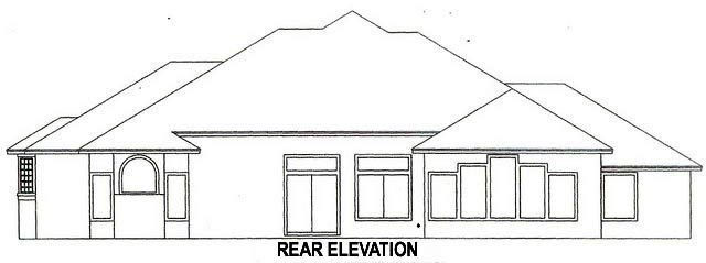 House Plan 53553 Rear Elevation