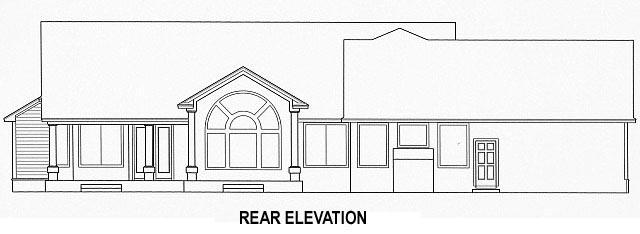 House Plan 53554 Rear Elevation