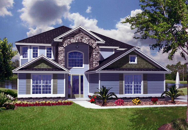 House Plan 53556 Elevation