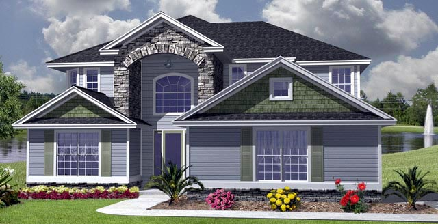 House Plan 53556 with 5 Beds, 5 Baths, 2 Car Garage Picture 3