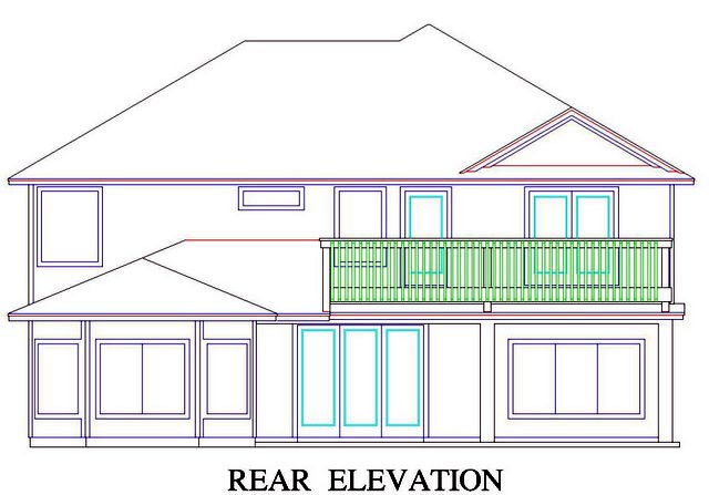 House Plan 53556 Rear Elevation