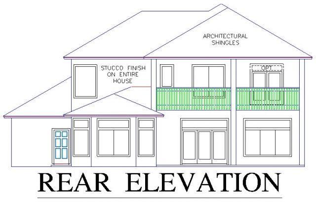 House Plan 53557 Rear Elevation