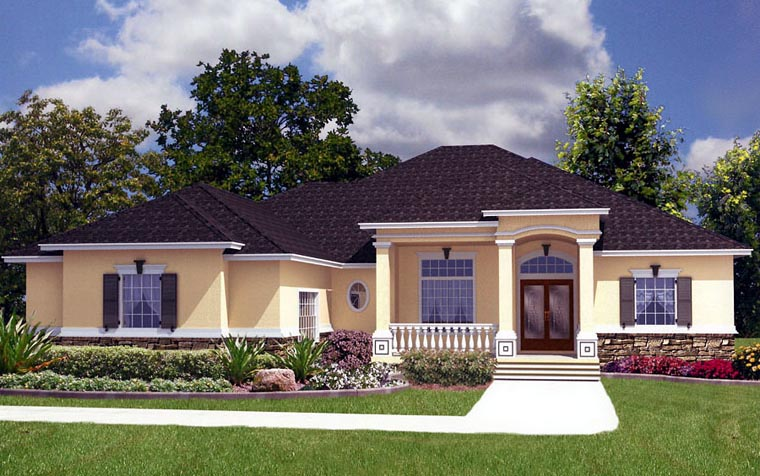 House Plan 53560 Elevation