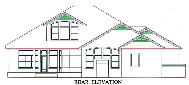 House Plan 53560 Rear Elevation