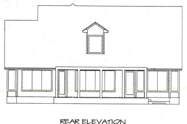 House Plan 53561 Rear Elevation