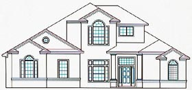 House Plan 53563 Elevation