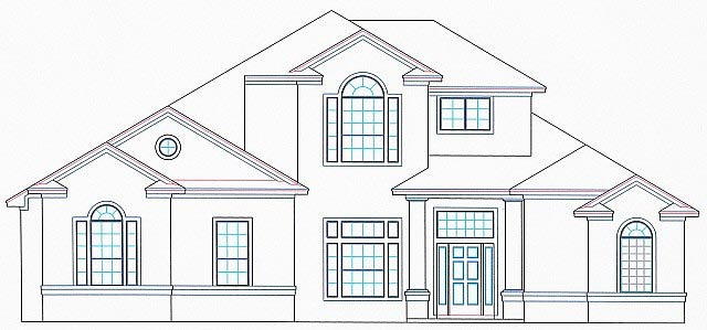 House Plan 53563 Elevation