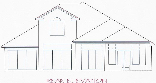 House Plan 53563 Rear Elevation