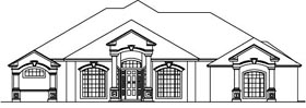 House Plan 53564 Elevation