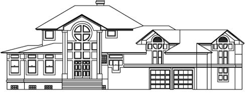 House Plan 53566 Elevation
