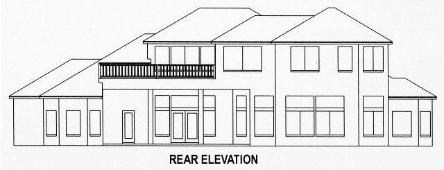 House Plan 53567 Rear Elevation