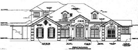 House Plan 53568 Elevation