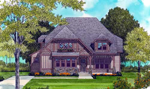 Craftsman European House Plan 53702 Elevation