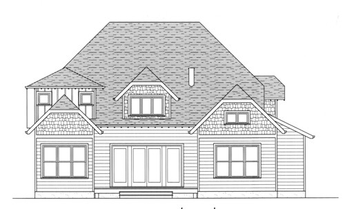 Craftsman European House Plan 53702 Rear Elevation
