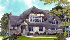 European , Craftsman , Bungalow House Plan 53705 with 4 Beds, 4 Baths, 3 Car Garage Elevation