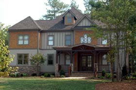 Craftsman House Plan 53706 with 4 Beds, 5 Baths, 3 Car Garage Elevation
