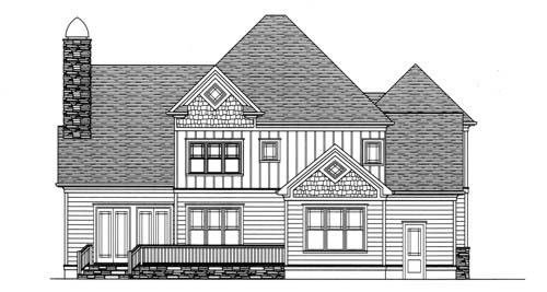 Craftsman House Plan 53706 Rear Elevation