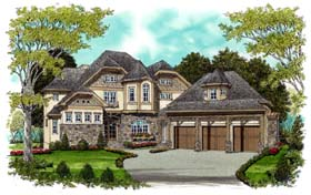 Craftsman European House Plan 53708 Elevation