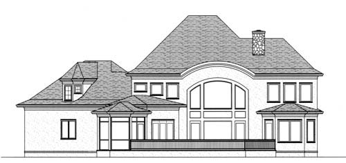 Craftsman European House Plan 53708 Rear Elevation