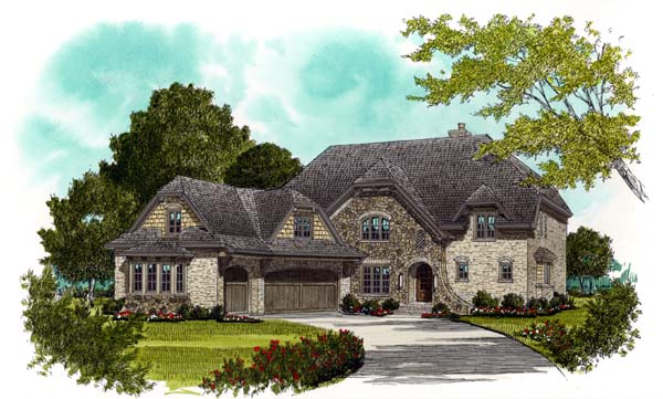 Craftsman European House Plan 53709 Elevation