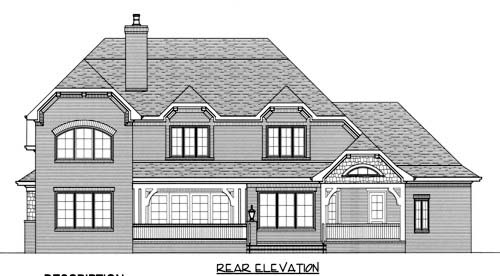 Craftsman European House Plan 53709 Rear Elevation